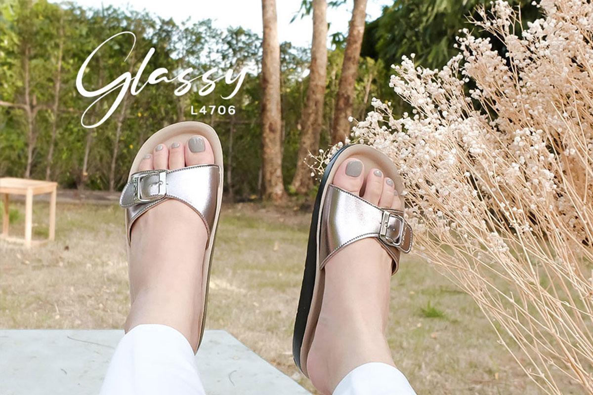 รองเท้าเพื่อสุขภาพ-เดอบลู-L4706Glassy